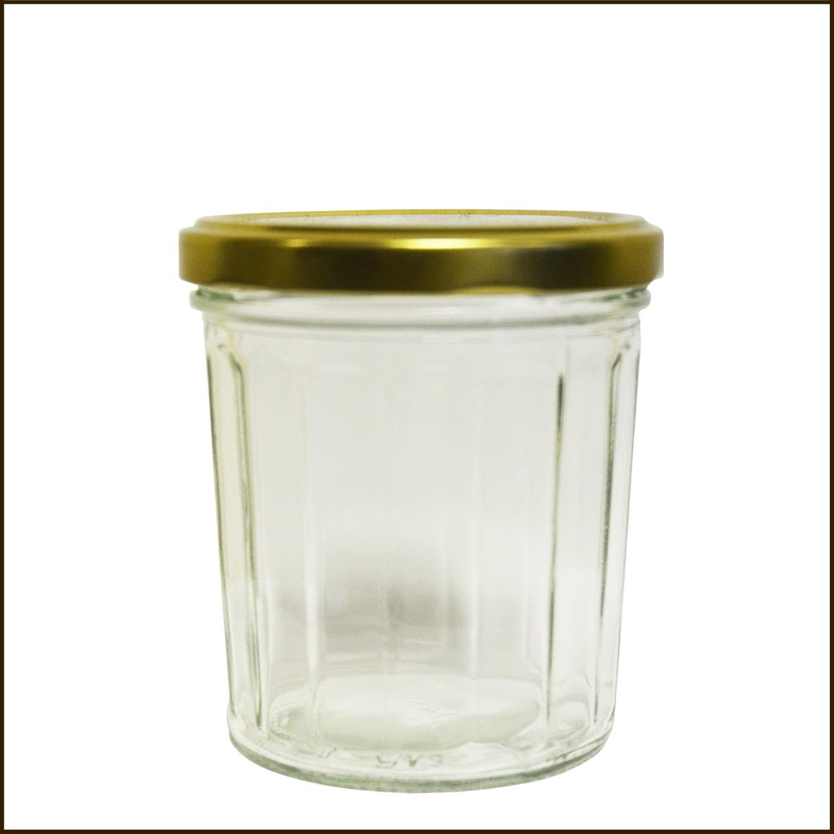 Pot confiture facettes 16 facettes 324 ml - Pots en verre pour confiture ...